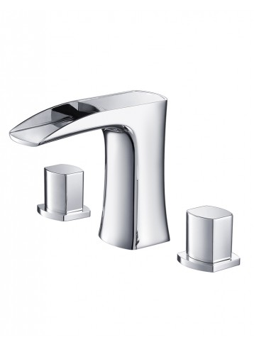 Moselle Three Hole Deck Mounted Basin Mixer