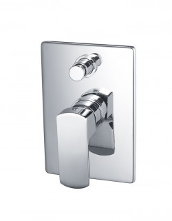 Moselle Wall Concealed Bath Shower Mixer with Plate and Handle