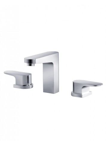 Track Three Hole Basin Mixer