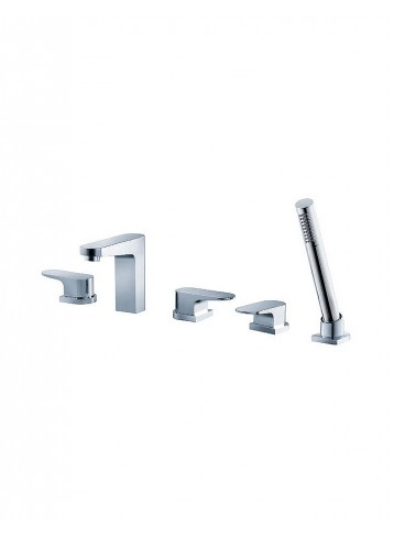 Track Five-hole Deck-Mounted Bath Shower Kit