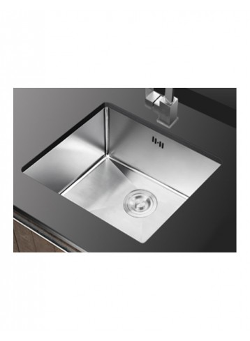 Acolia Handmade Single Bowl Kitchen Sink with Overflow Hole