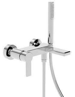 Italia150 Wall mounted bathtub mixer with side bracket