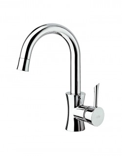 Konvex Side lever lavatory faucet with tall spout, without pop up waste