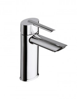 Ovaline Lavatory faucet with pop-up waste