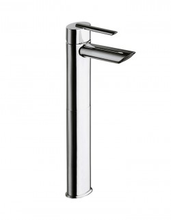 Ovaline Tall lavatory faucet without pop-up waste
